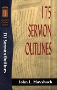 Sos: 175 Sermon Outlines (Sermon Outline Series) eBook