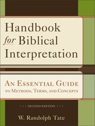 Handbook For Biblical Interpretation (Second Edition) eBook