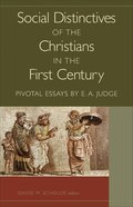 Social Distinctives of the Christians in the First Century eBook
