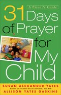 31 Days of Prayer For My Child eBook