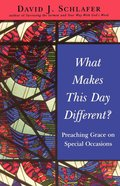 What Makes This Day Different? eBook