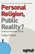 Personal Religion, Public Reality? eBook
