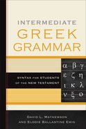Intermediate Greek Grammar eBook