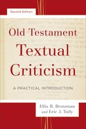 Old Testament Textual Criticism eBook