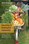 Educating For Redemptive Community eBook