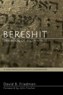 Bereshit, the Book of Beginnings eBook