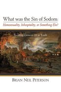 What Was the Sin of Sodom: Homosexuality, Inhospitality, Or Something Else? eBook