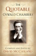 The Quotable Oswald Chambers eBook