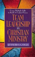 Team Leadership in Christian Ministry eBook