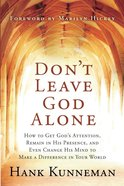 Don't Leave God Alone eBook