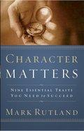 Character Matters eBook