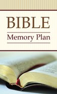 Bible Memory Plan (Kjv; Niv; Nlt) eBook