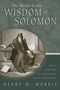 The Remarkable Wisdom of Solomon eBook