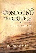 Confound the Critics eBook