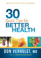 30 Quick Tips For Better Health eBook