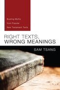 Right Texts, Wrong Meanings eBook