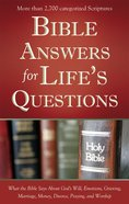 Bible Answers For Life's Questions eBook