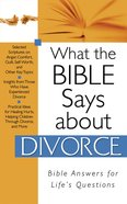 What the Bible Says About Divorce eBook