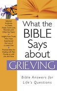 What the Bible Says About Grieving eBook