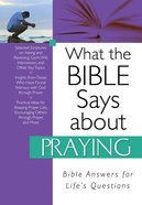 What the Bible Says About Praying eBook