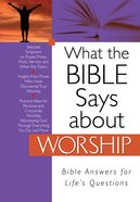 What the Bible Says About Worship eBook