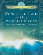 Wonderful Names of Our Wonderful Lord eBook