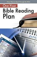 One-Year Bible Reading Plan (Rose Guide Series) eBook