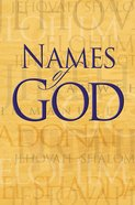 Names of God (Rose Guide Series) eBook