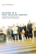 Culture in a Post-Secular Context eBook