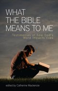 What the Bible Means to Me eBook