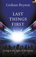 Last Things First eBook