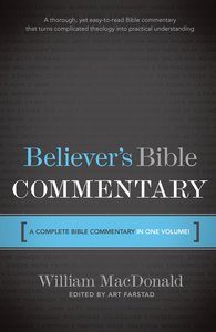 Believers Bible Commentary