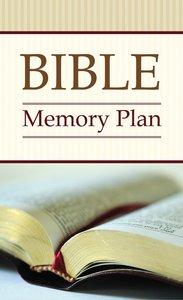Bible Memory Plan (Kjv; Niv; Nlt)