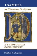 1 Samuel as Christian Scripture Paperback