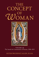 The Concept of Woman (Vol 3) Paperback