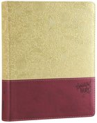 NIV Beautiful Word Bible Taupe/Cranberry (Black Letter Edition) Premium Imitation Leather