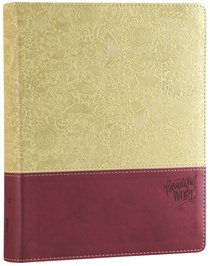 NIV Beautiful Word Bible Taupe/Cranberry