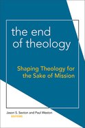 The End of Theology eBook