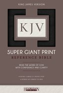 KJV Super Giant Print Reference Bible Black Imitation Leather