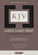 KJV Super Giant Print Thumb Indexed Reference Bible Black