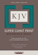 KJV Super Giant Print Thumb Indexed Reference Bible Turquoise Flexisoft