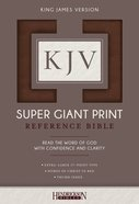 KJV Super Giant Print Thumb Indexed Reference Bible Brown Flexisoft Imitation Leather
