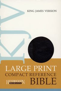 KJV Hendrickson Compact Reference Large Print With Magnetic Flap Closure Black Flexisoft