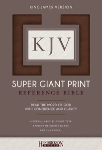 KJV Super Giant Print Thumb Indexed Reference Bible Brown Flexisoft