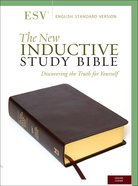 ESV New Inductive Study Bible Burgundy Genuine Leather