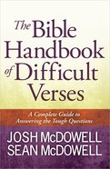 The Bible Handbook of Difficult Verses Paperback