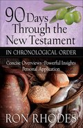 90 Days Through the New Testament in Chronological Order Paperback