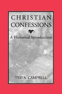 Christian Confessions Paperback