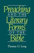 Preaching and the Literary Forms of the Bible Paperback