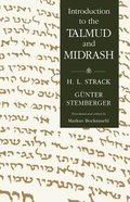 Introduction to the Talmud and Midrash Hardback
